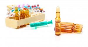 Einwegspritze, Ampullen, Impfstoff, Tabletten